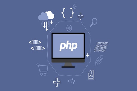 PHP logo, PHP training, PHP wallpaper HD