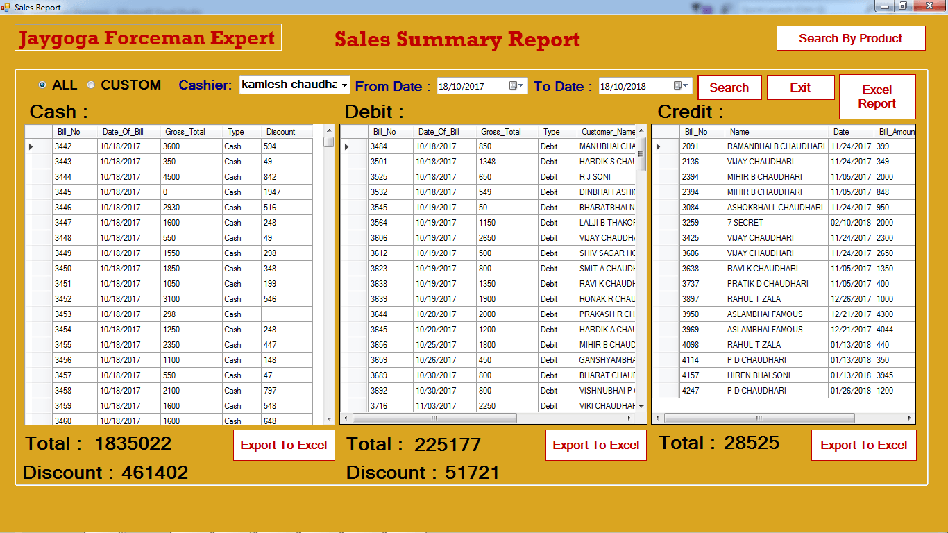 POS software example, Retail software example
