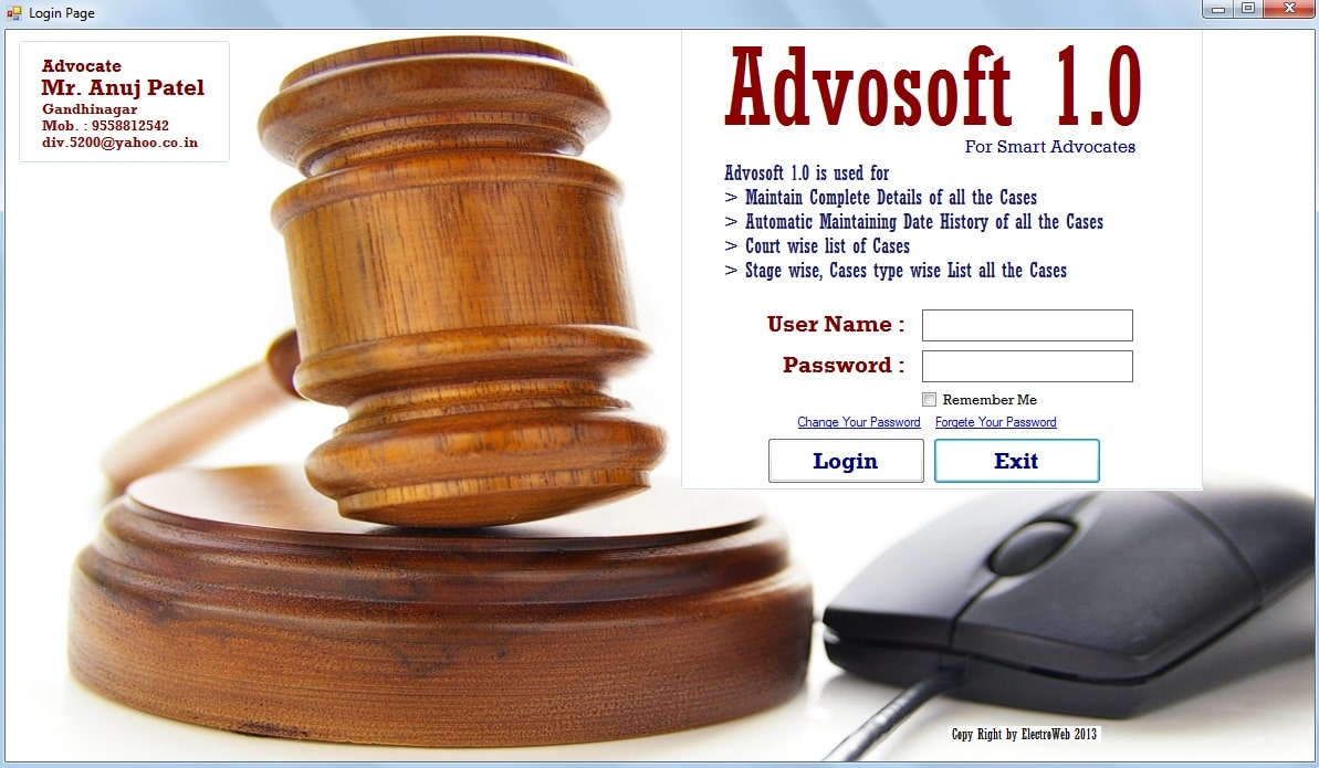 Advocate software